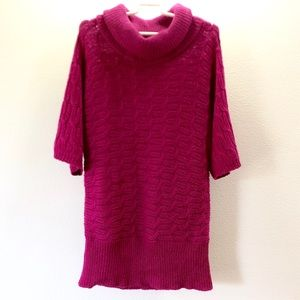 OLD NAVY Turtle Neck 3/4 Sleeve sweater Magenta M